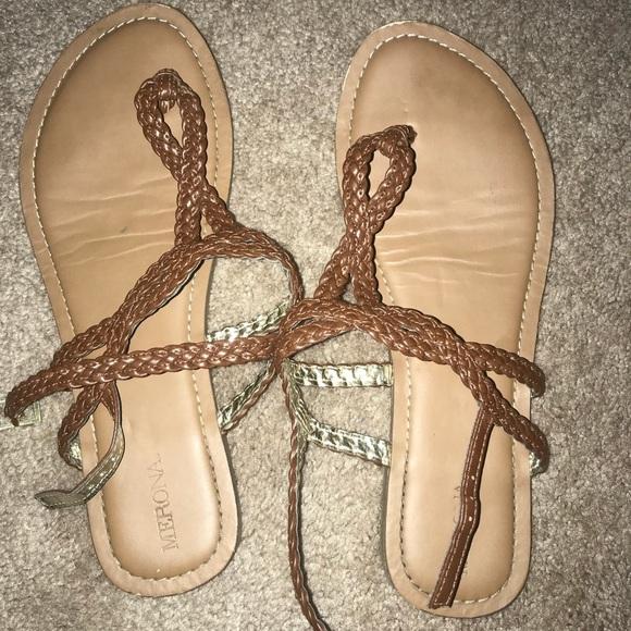 a0679af66c3 Target women s size 9 brown sandals. M 5ac251183b1608995728e34a